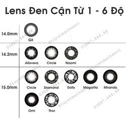 Lens đen cận