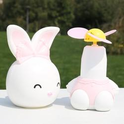 Quạt mini tích điện để bàn hình con thỏ - Quạt sạc - Quạt cho bé