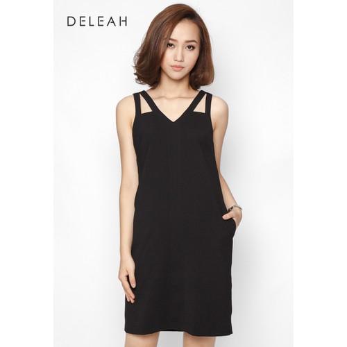 De Leah - Đầm Suông Cut-Out Vai - Thời trang thiết kế