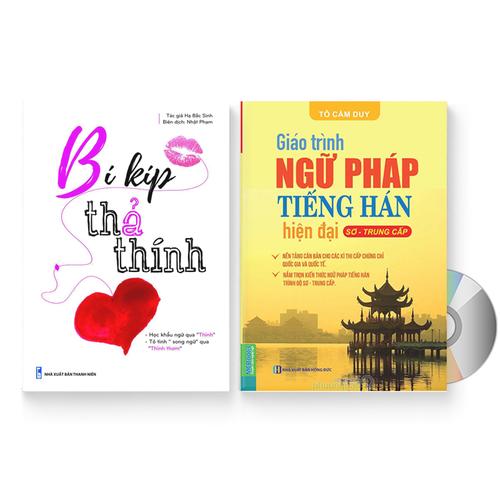 Combo 2 sách: Bí kíp thả thính + Giáo trình ngữ pháp tiếng Hán hiện đại – Sơ Trung Cấp + DVD quà tặng – THATHINHNGUPHAP - 11473174 , 17299524 , 15_17299524 , 259000 , Combo-2-sach-Bi-kip-tha-thinh-Giao-trinh-ngu-phap-tieng-Han-hien-dai-So-Trung-Cap-DVD-qua-tang-THATHINHNGUPHAP-15_17299524 , sendo.vn , Combo 2 sách: Bí kíp thả thính + Giáo trình ngữ pháp tiếng Hán hiện đ