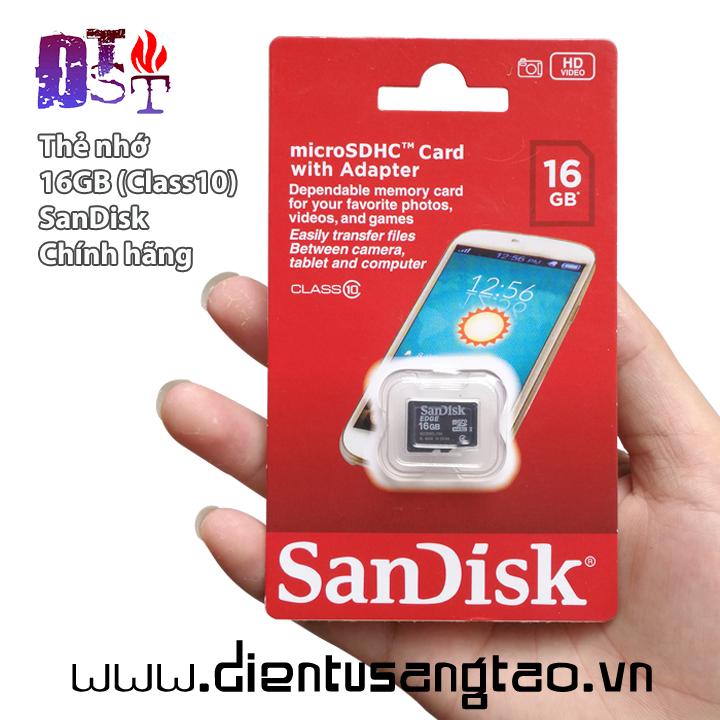 Thẻ nhớ 16GB Calss10 Hàng chính hãng tốc độ cao