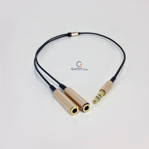 Cáp chia Audio 2 cổng 3.5mm cao cấp màu Đen - 11469433 , 17289443 , 15_17289443 , 90000 , Cap-chia-Audio-2-cong-3.5mm-cao-cap-mau-Den-15_17289443 , sendo.vn , Cáp chia Audio 2 cổng 3.5mm cao cấp màu Đen