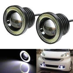 Bộ 2 đèn gầm Ô tô tích hợp đèn đi ban ngày Angle Eyes đường kính 89mm