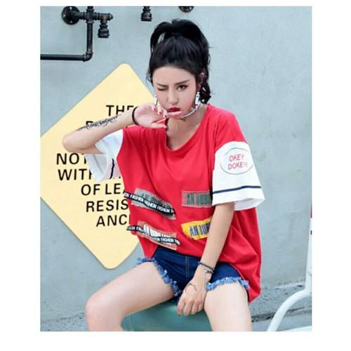 Áo cotton thun nữ hip hop