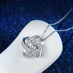 Dây chuyền nữ Sun Flower bạc S925 nạm đá zircon tinh tế DOC-DC77