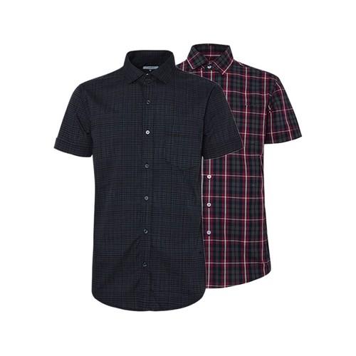 Combo 2 áo sơ mi nam sọc caro phong cách mới SMC086