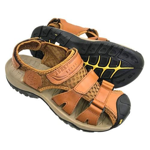 Giày sandal nam da bò thật bịt mũi kiểu dáng trẻ trung năng động AD132N - 4666092 , 17325870 , 15_17325870 , 890000 , Giay-sandal-nam-da-bo-that-bit-mui-kieu-dang-tre-trung-nang-dong-AD132N-15_17325870 , sendo.vn , Giày sandal nam da bò thật bịt mũi kiểu dáng trẻ trung năng động AD132N