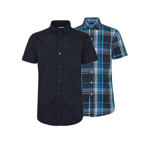 Combo 2 áo sơ mi nam sọc caro phong cách mới SMC088