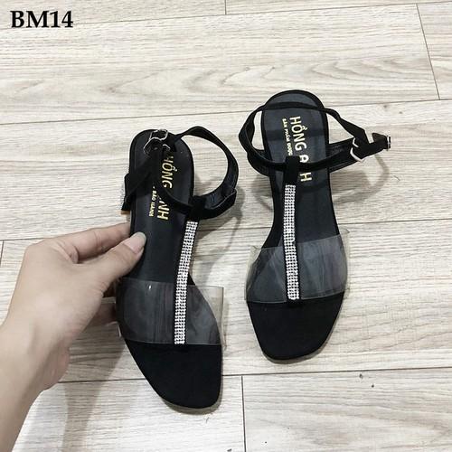 Giày sandal cao gót nữ 5 phân BM14 - có size 40 cho người chân lớn