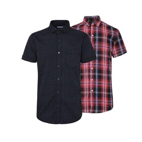 Combo 2 áo sơ mi nam sọc caro phong cách mới SMC0813