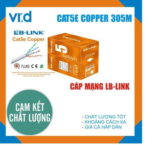 Cuộn dây cáp mạng LB-LINK Cat5e UTP Copper 305m - Chính hãng - 7524025 , 17311567 , 15_17311567 , 1729000 , Cuon-day-cap-mang-LB-LINK-Cat5e-UTP-Copper-305m-Chinh-hang-15_17311567 , sendo.vn , Cuộn dây cáp mạng LB-LINK Cat5e UTP Copper 305m - Chính hãng