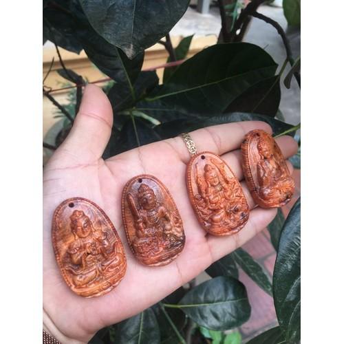 mặt phật bản mệnh gỗ huyết long nu