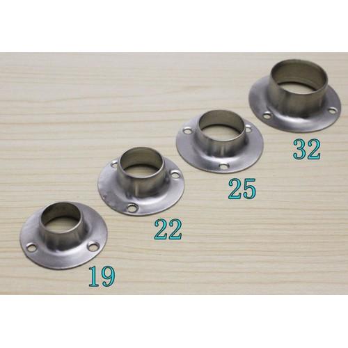 Bộ 4 bát inox cho thanh treo tủ quần áo Ø22