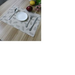 Khăn lót bàn ăn canvas chùm lá xanh