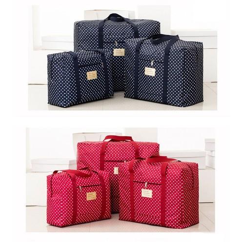 Túi vải gấp gọn để quần áo, đồ đạc xách tay