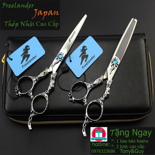Bộ 2 kéo cắt tóc Freelander FR2 tặng bao kéo Kasho và 2 lược Tony&Guychịu nhiệt cao cấpcực đẹp và tiện dụng. - 11483477 , 17326017 , 15_17326017 , 1600000 , Bo-2-keo-cat-toc-Freelander-FR2-tang-bao-keo-Kasho-va-2-luoc-TonyGuychiu-nhiet-cao-capcuc-dep-va-tien-dung.-15_17326017 , sendo.vn , Bộ 2 kéo cắt tóc Freelander FR2 tặng bao kéo Kasho và 2 lược Tony&Guyc