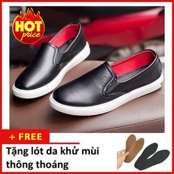 Giày Slip On Nam Aroti Đế Khâu Chắc Chắn Phong Cách Đơn Giản Màu Đen - M498-DEN|090419