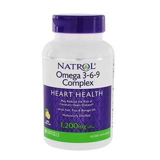 [ Date 04 2021 ] Viên uống bổ tim mạch Natrol Omega 3 6 9 Complex 1200 mg 90 viên - Natrol Omega 3-6-9 Complex thumbnail