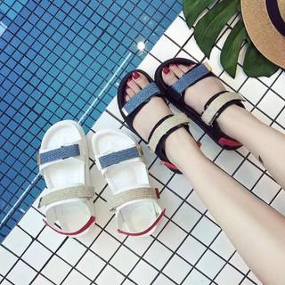 Giày Sandan Nữ Học Sinh Quai Cói 2 Màu Siêu Hót -XT05 - XT05 thumbnail
