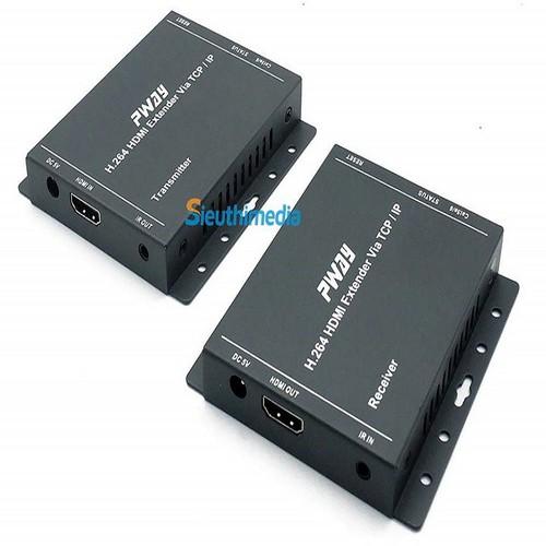 HDMI Extender By Cat5, Cat6e - 150M - Bán nhiều thi công Camera