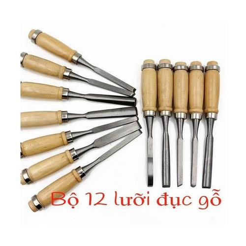 Bộ 12 mũi đục khắc gỗ đa năng