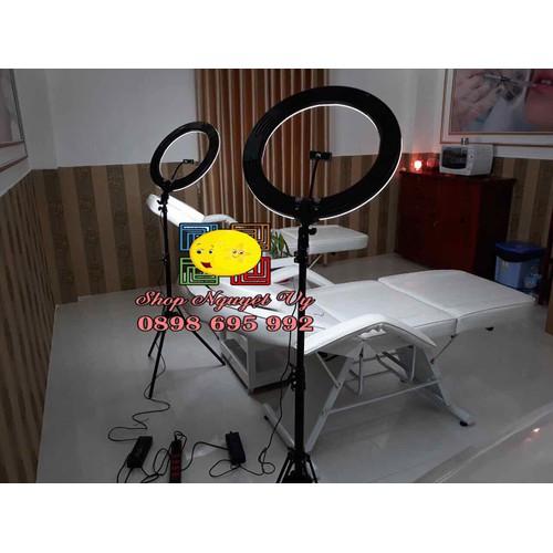 Đèn make up chụp hình hỗ trợ live stream size đèn lớn nhất 50cm