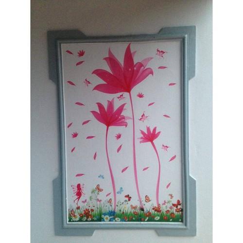 Decal dán tường hoa ly kết hợp hàng rào hoa - 7691273 , 17681318 , 15_17681318 , 99000 , Decal-dan-tuong-hoa-ly-ket-hop-hang-rao-hoa-15_17681318 , sendo.vn , Decal dán tường hoa ly kết hợp hàng rào hoa