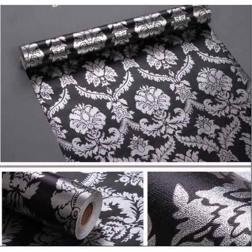 10m giấy dán tường hoa văn xám bạc nền đen-khổ 45cm-sẵn keo - 11481267 , 17319422 , 15_17319422 , 105000 , 10m-giay-dan-tuong-hoa-van-xam-bac-nen-den-kho-45cm-san-keo-15_17319422 , sendo.vn , 10m giấy dán tường hoa văn xám bạc nền đen-khổ 45cm-sẵn keo