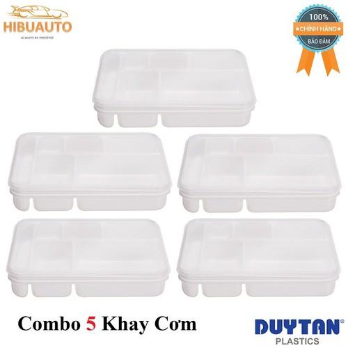 Combo 5 Khay cơm vuông nhỏ Duy Tân 27.2 x 22.8 x 5.2 cm No.H108