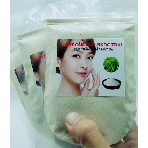 Bột Cám Gạo Ngọc Trai dùng Tắm trắng hoặc đắp mặt nạ 100g