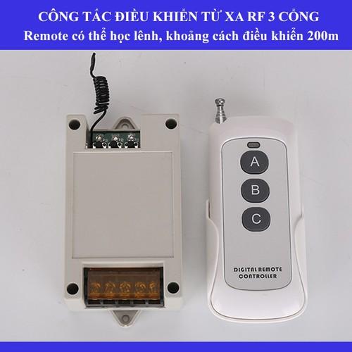 Công tắc điều khiển từ xa RF 3 cổng remote học lênh có thể bật tắt các kênh trên mách điều khiển - 7607473 , 17805377 , 15_17805377 , 199000 , Cong-tac-dieu-khien-tu-xa-RF-3-cong-remote-hoc-lenh-co-the-bat-tat-cac-kenh-tren-mach-dieu-khien-15_17805377 , sendo.vn , Công tắc điều khiển từ xa RF 3 cổng remote học lênh có thể bật tắt các kênh trên mác