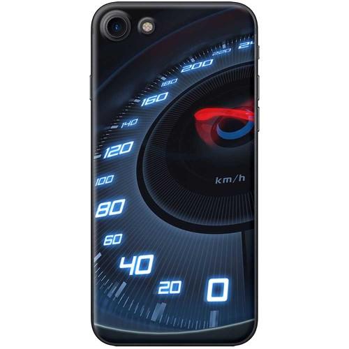 Ốp lưng nhựa dẻo Apple iPhone 8 Tốc độ xanh