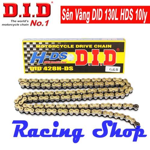 Sên Vàng DID 130L HDS 10Ly Dùng Cho Exciter 150, Exciter 135, Winner 150, Wave 100, 110, RSX, Dream, Sirius, Jupiter, Impulse, Axelo, Raider, Future, Fz150i, FX125, Fz150 - Thái Lan