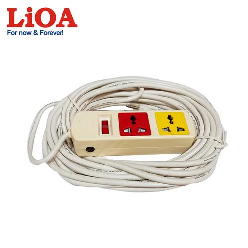 Ổ cắm kéo dài đa năng 2 ổ cắm LiOA 2TH52W-10A