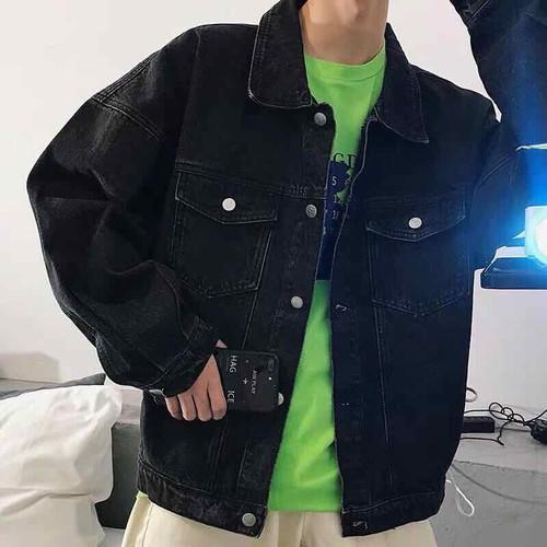 áo khoác jean đen basic