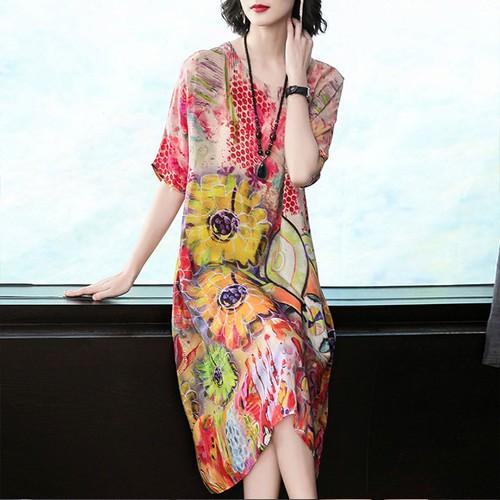 Đầm Suông In Hoa 5643