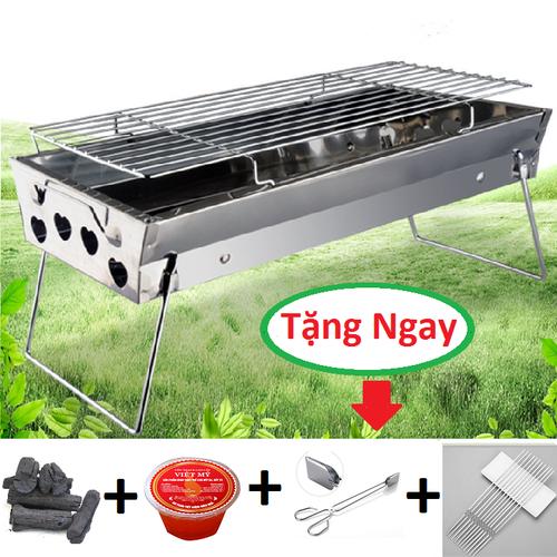 Bếp nướng than hoa Mekongbbq inox  Tặng than, cồn, xiên, kẹp gắp là lò nướng than hoa ngoài trời gấp gọn tiện dụng dễ dàng mang đi du lịch dã ngoại - 8874018 , 18033948 , 15_18033948 , 380000 , Bep-nuong-than-hoa-Mekongbbq-inox-Tang-than-con-xien-kep-gap-la-lo-nuong-than-hoa-ngoai-troi-gap-gon-tien-dung-de-dang-mang-di-du-lich-da-ngoai-15_18033948 , sendo.vn , Bếp nướng than hoa Mekongbbq inox  Tặ