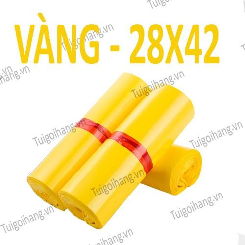 20 Túi Niêm Phong - Túi Gói Hàng Tự Dính Vàng 28x42cm