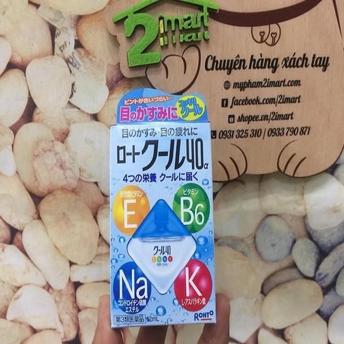 Thuốc Nhỏ Mắt Bổ Sung 4 Vitamin E-B6-Na-K Rohto Cool 40 α 12ml Japan - 8875896 , 18036933 , 15_18036933 , 100000 , Thuoc-Nho-Mat-Bo-Sung-4-Vitamin-E-B6-Na-K-Rohto-Cool-40-12ml-Japan-15_18036933 , sendo.vn , Thuốc Nhỏ Mắt Bổ Sung 4 Vitamin E-B6-Na-K Rohto Cool 40 α 12ml Japan