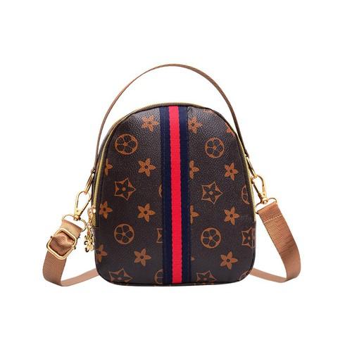 Túi đeo chéo nữ -  freeship - túi đeo chéo nữ phối sọc