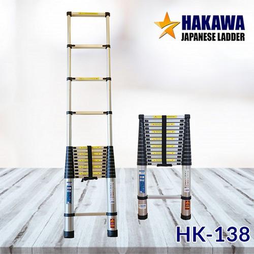 HỖ TRỢ SHIP-Thang nhôm rút đơn HAKAWA HK138 - Bằng nhôm T6063 ,nhỏ gọn tiện lợi , dễ di chuyển
