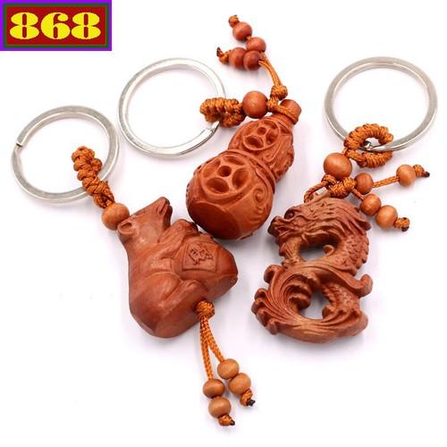 Combo 3 móc khóa hồ lô - rồng - chuột MKHLR3