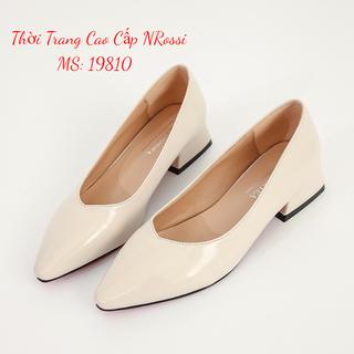 Giày cao gót 1 phân màu kem bóng sie lớn 40 41 42 43 NRossi - 19810 Nrossi thumbnail