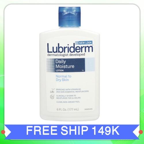 Sữa dưỡng thể Lubridem daily moisture lotion|sua duong the lubridem xuất xứ Mỹ 177ml
