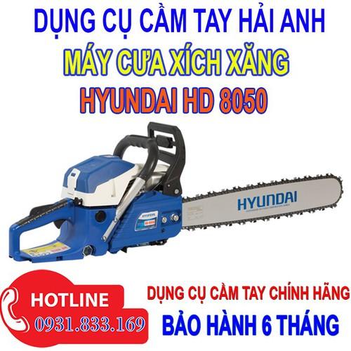 Máy cưa gỗ cầm tay chạy xăng Hyundai HD8050 - 8867430 , 18024005 , 15_18024005 , 2680000 , May-cua-go-cam-tay-chay-xang-Hyundai-HD8050-15_18024005 , sendo.vn , Máy cưa gỗ cầm tay chạy xăng Hyundai HD8050