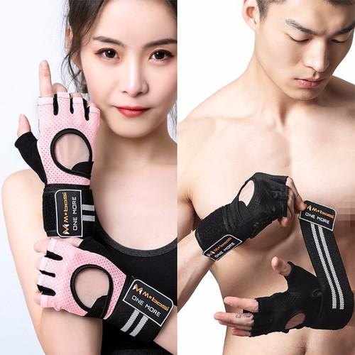 Găng tay tập thể hình hở mu OM1