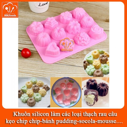 Khuôn silicon làm các loại thạch rau câu,kẹo chip chip, bánh pudding, socola, mousse - mẫu 12 hình hoa 3d nổi - 8863812 , 18018465 , 15_18018465 , 38000 , Khuon-silicon-lam-cac-loai-thach-rau-caukeo-chip-chip-banh-pudding-socola-mousse-mau-12-hinh-hoa-3d-noi-15_18018465 , sendo.vn , Khuôn silicon làm các loại thạch rau câu,kẹo chip chip, bánh pudding, socola,