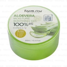 Gel Nha Đam 100 dưỡng mềm da Farm Stay Aloevera Hàn Quốc 300ml - MN0044