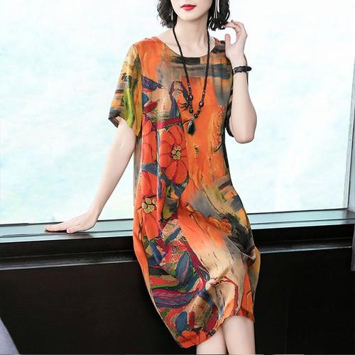 Đầm Suông In Hoa 5644