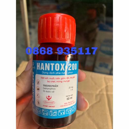 HANTOX 200 diệt ruồi muỗi bọ chét ve rận trên thú nuôi